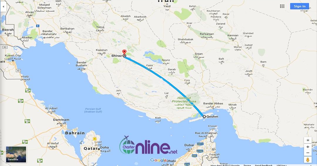 بلیط چارتری قشم به شیراز