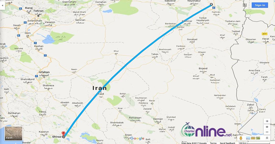 بلیط چارتری مشهد به شیراز