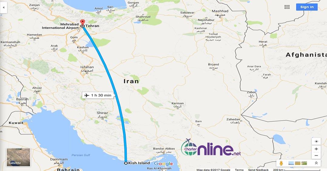 بلیط چارتری تهران به کیش