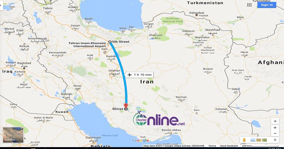 بلیط چارتری تهران به شیراز