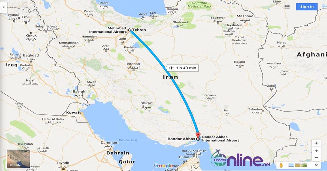 بلیط چارتری تهران به بندرعباس