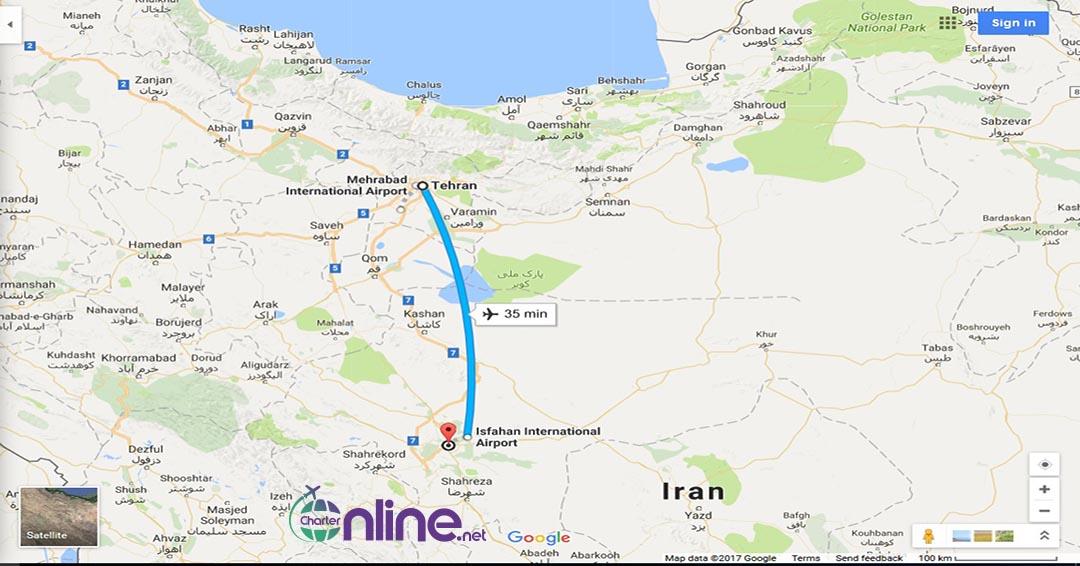 بلیط چارتری تهران به اصفهان
