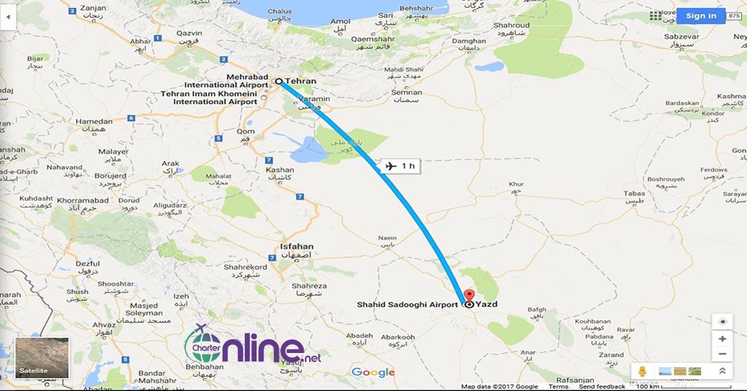بلیط چارتری یزد به تهران