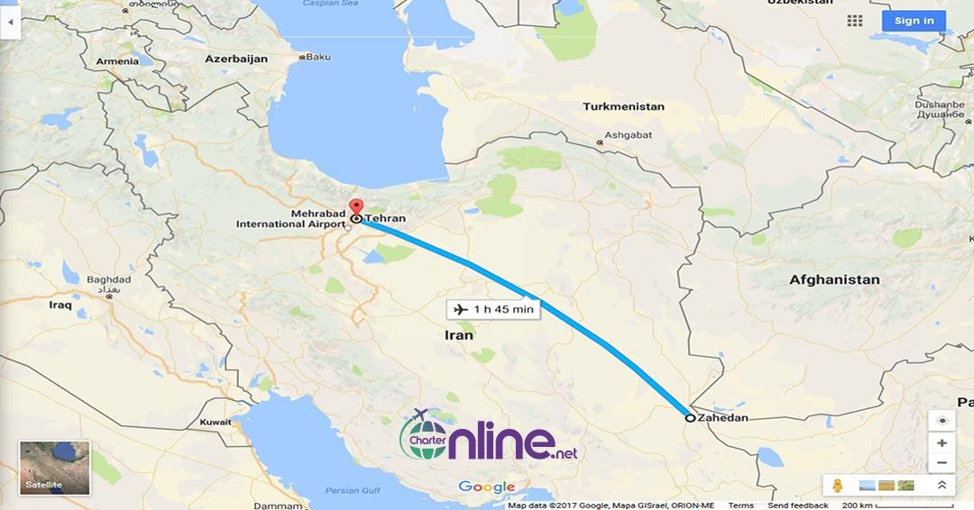 بلیط چارتری زاهدان به تهران