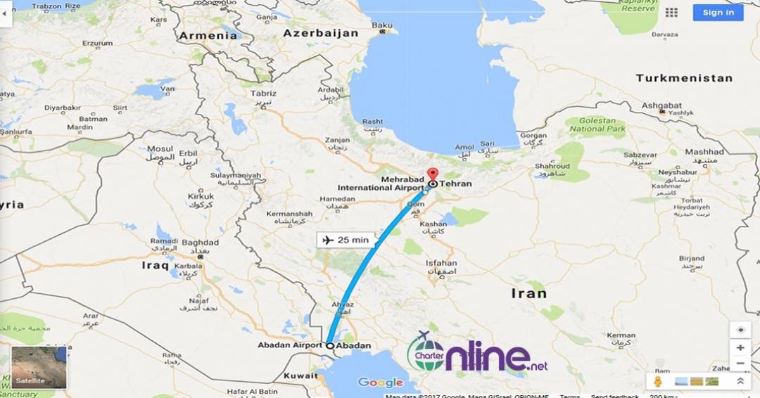 بلیط چارتری تهران به آبادان