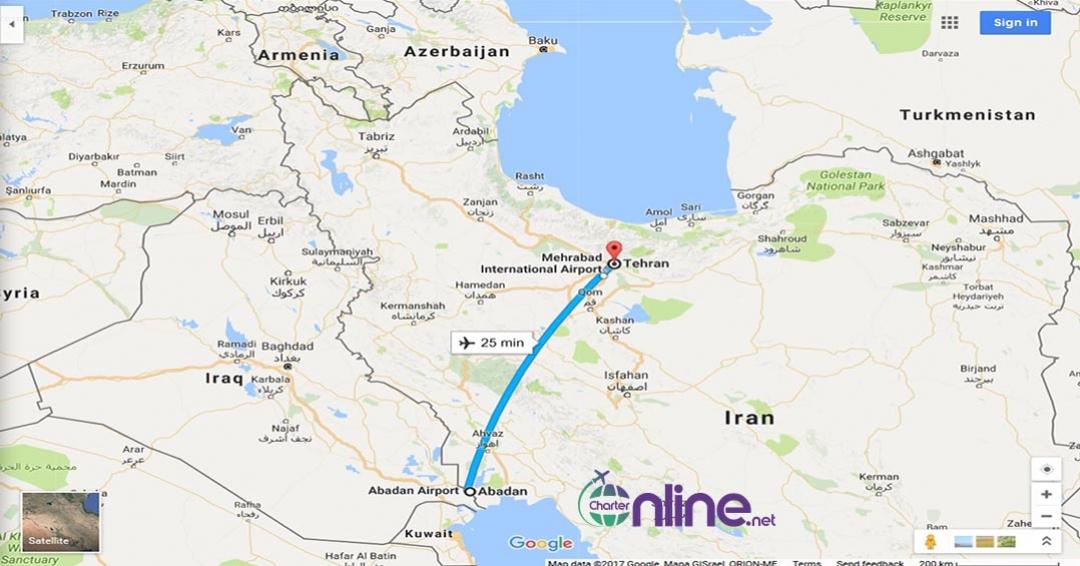 بلیط چارتری آبادان به تهران