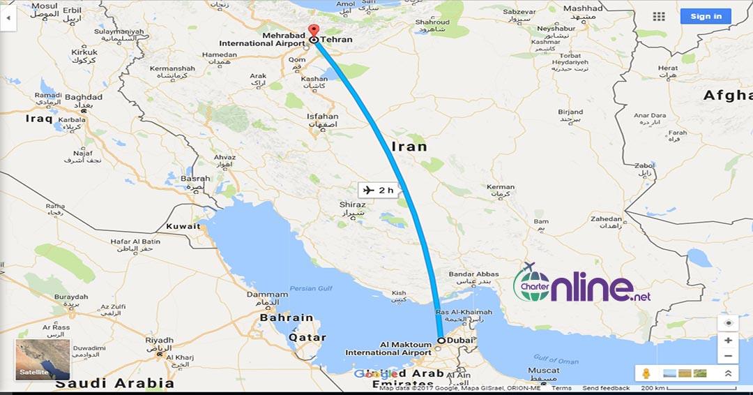 بلیط چارتری دبی به تهران