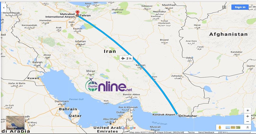 بلیط چارتری چابهار به تهران