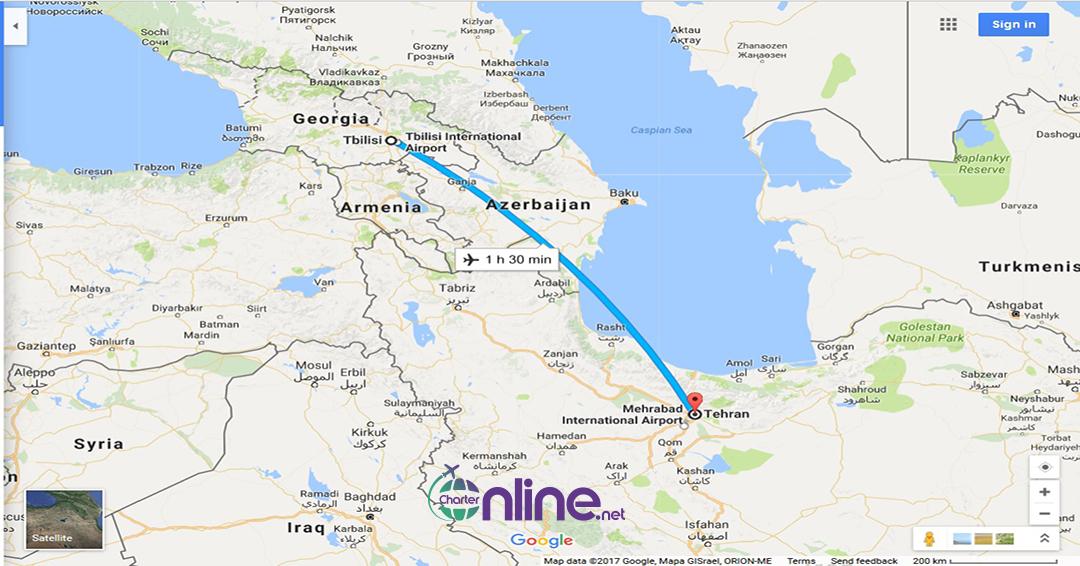 بلیط چارتری تفلیس به تهران