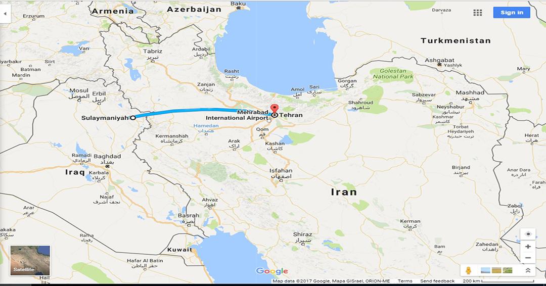 بلیط چارتری سلیمانیه به تهران