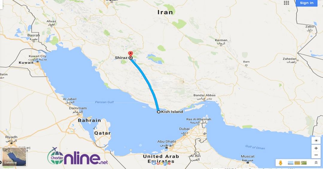 بلیط چارتری کیش به شیراز