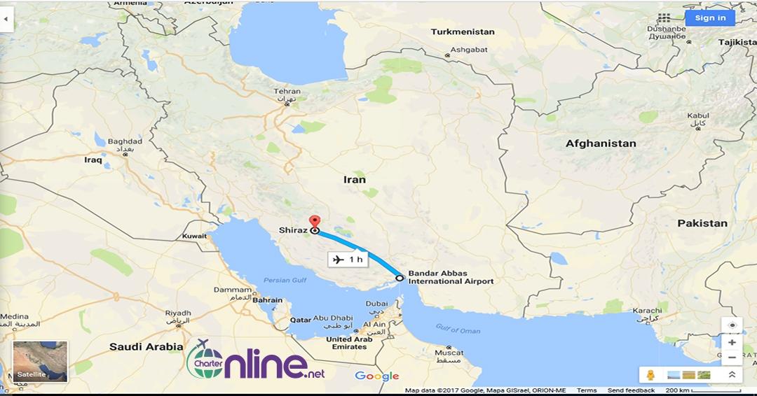بلیط چارتری شیراز به بندرعباس