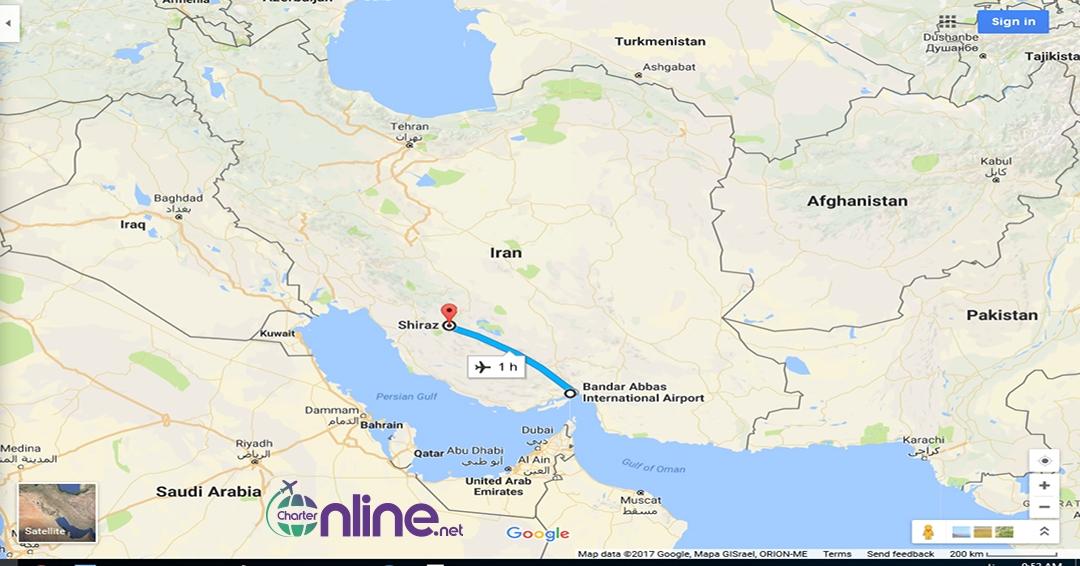 بلیط چارتری بندرعباس به شیراز