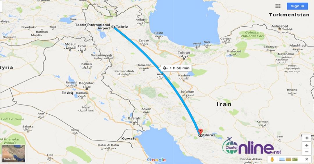 بلیط چارتری شیراز به تبریز