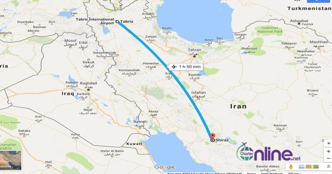 بلیط چارتری تبریز به شیراز