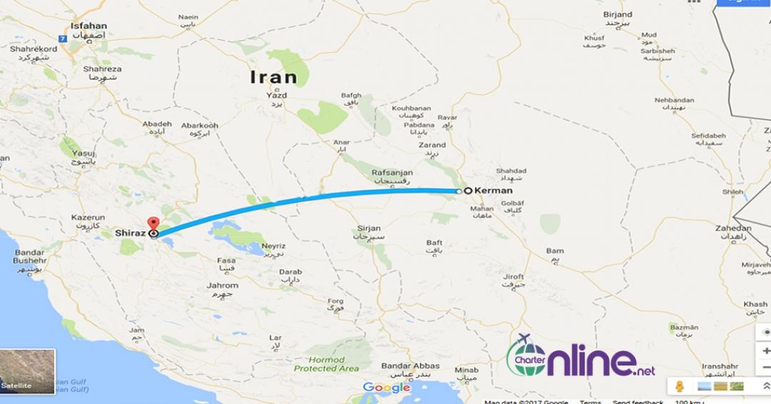 بلیط چارتری شیراز به کرمان
