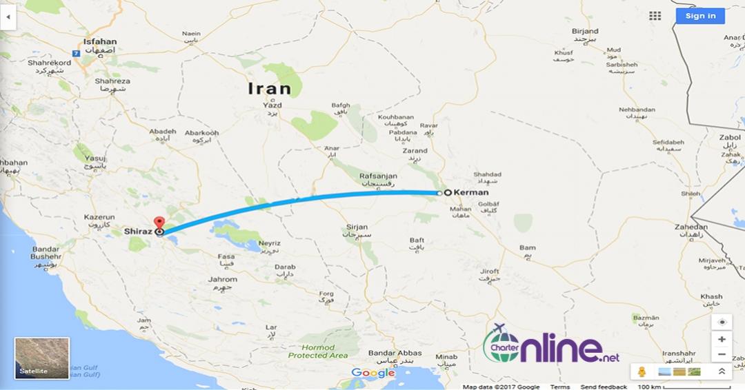 بلیط چارتری کرمان به شیراز
