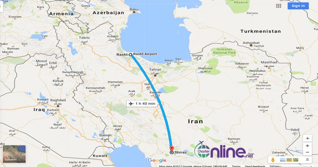 بلیط چارتری رشت به شیراز