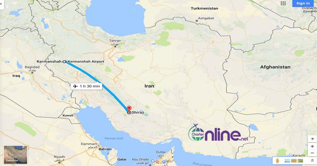 بلیط چارتری شیراز به کرمانشاه