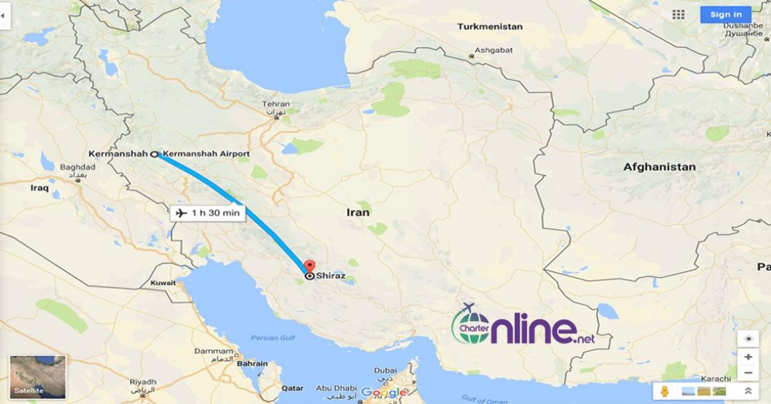 بلیط چارتری کرمانشاه به شیراز