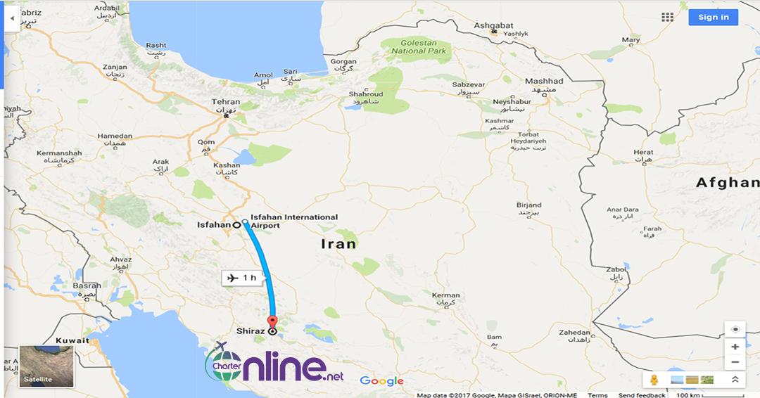 بلیط چارتر شیراز به اصفهان