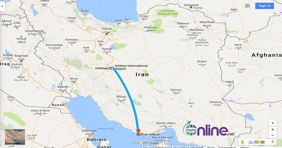 بلیط چارتری اصفهان به کیش