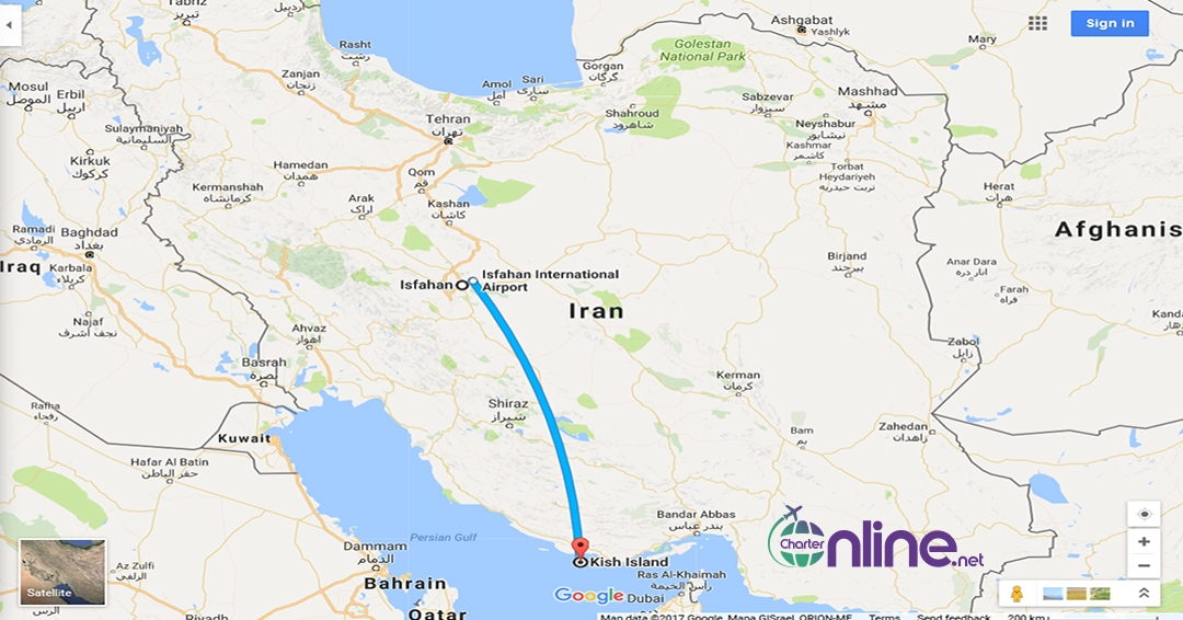 بلیط چارتری کیش به اصفهان