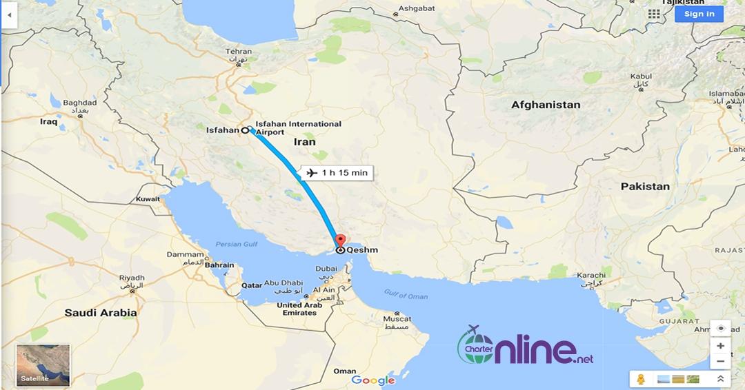 بلیط چارتری اصفهان به قشم