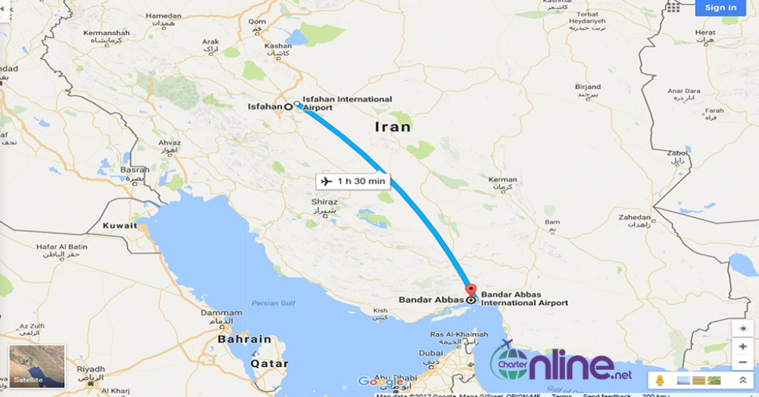 بلیط چارتری اصفهان به بندرعباس
