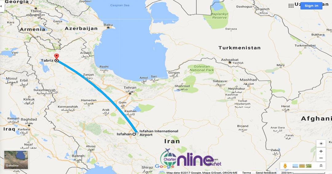 بلیط چارتری اصفهان به تبریز
