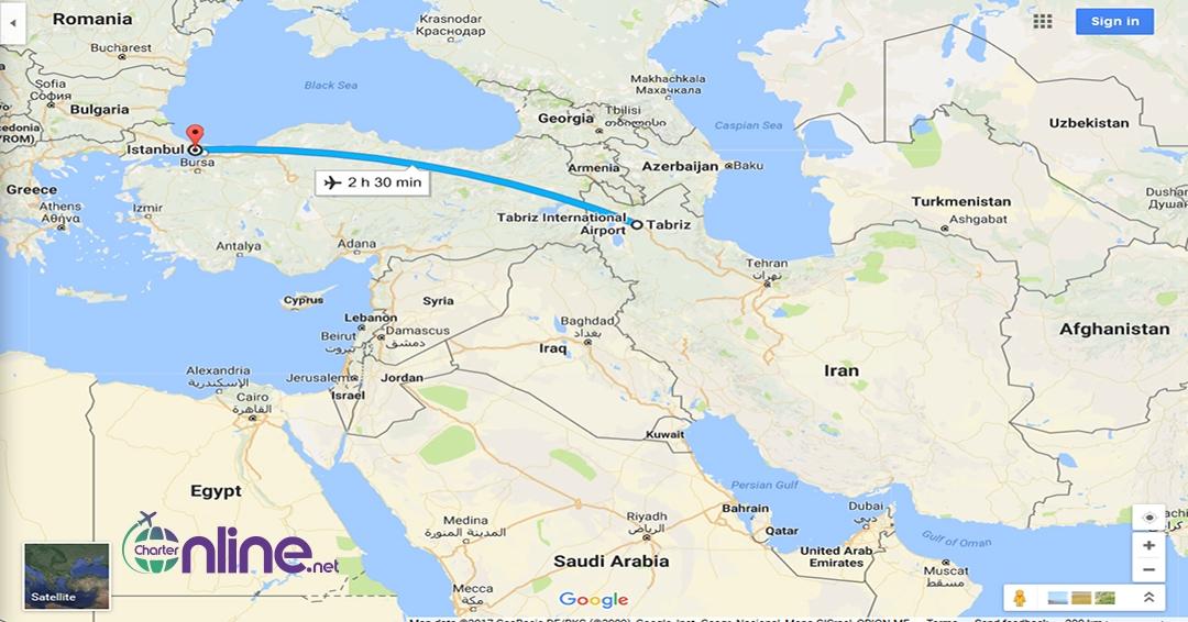 بلیط چارتری تبریز به استانبول