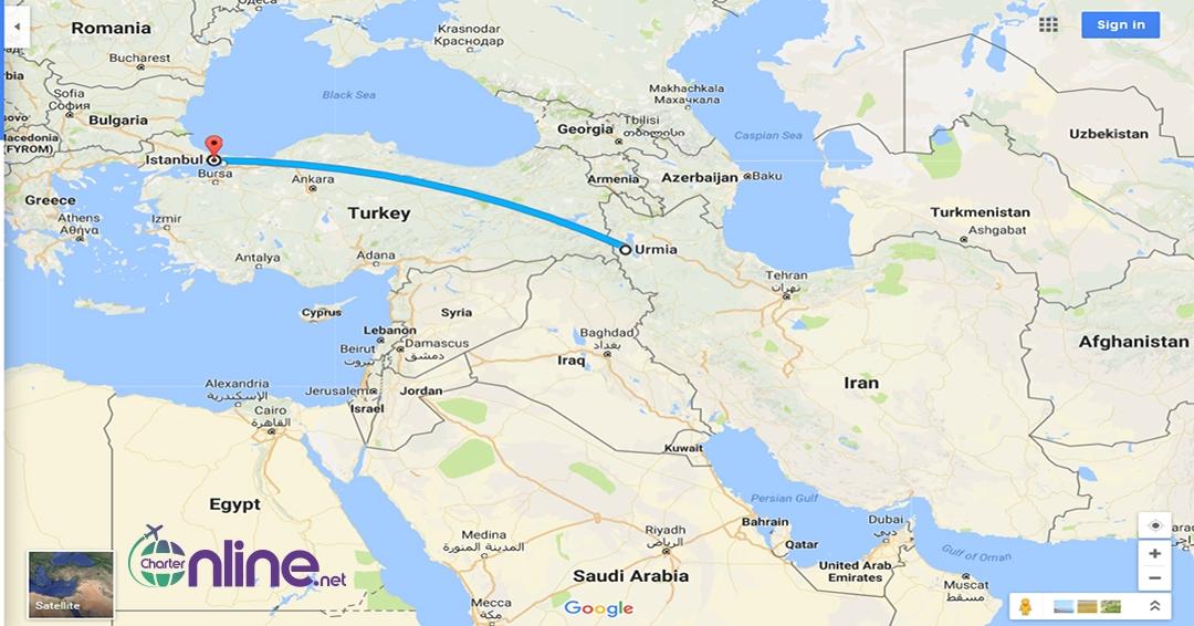 بلیط چارتری استانبول به ارومیه