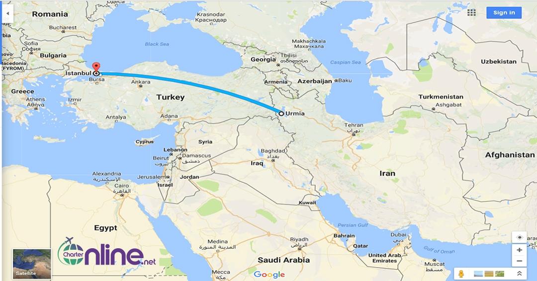 بلیط چارتری ارومیه به استانبول