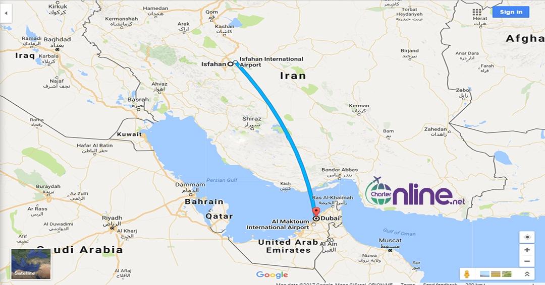 بلیط چارتری دبی به اصفهان